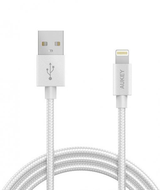 Mobbi Plus Aukey Cabo Lightning para USB Certificado pela Apple CB-D16 Cinza